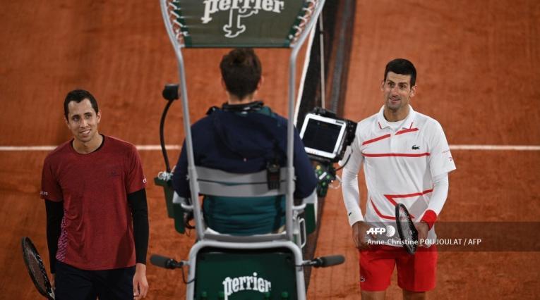 Daniel Galán y Djokovic - Roland Garros 2020