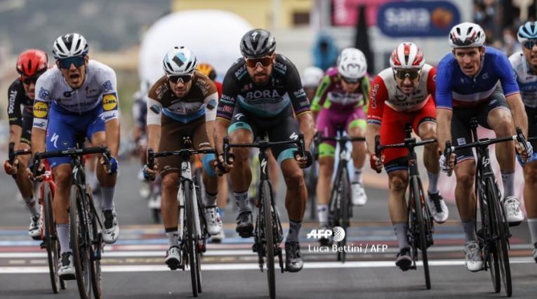 Peter Sagan en un embalaje del Giro de Italia