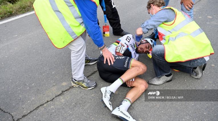 Accidente Julian Alaphilippe en el Tour de Flandes