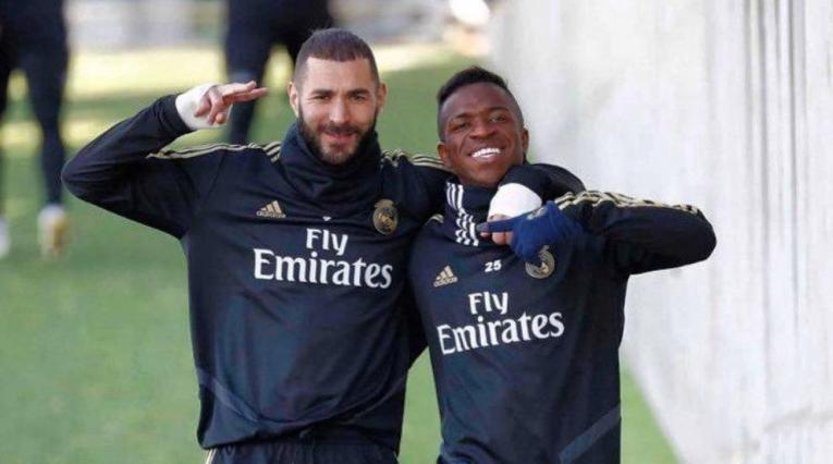 Benzemá y Vinicius en Real Madrid