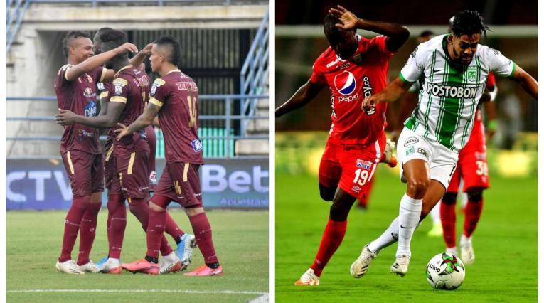 Deportes Tolima y Nacional vs América - Liga Betplay, fecha 15