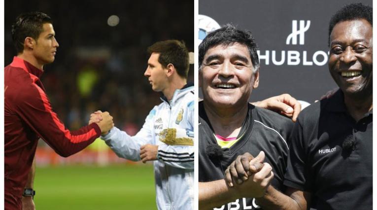 Messi, Cristiano; Maradona y Pelé