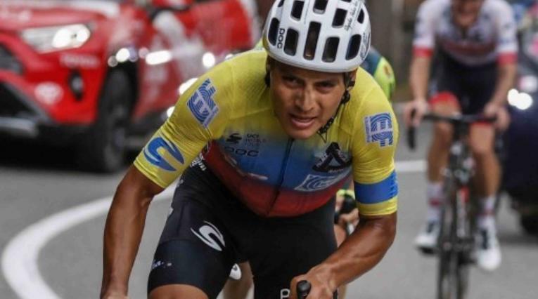 Jonathan Caicedo, ciclista ecuatoriano del EF