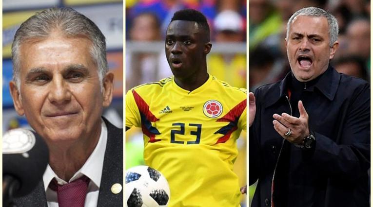 Queiroz, Davinson Sánchez y José Mourinho