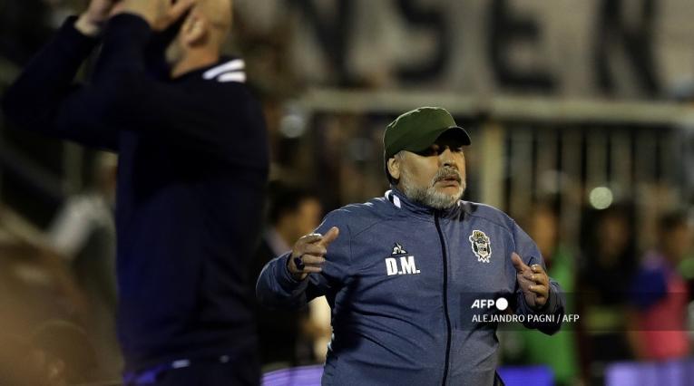 Diego Maradona y Gallego Méndez en Gimnasia