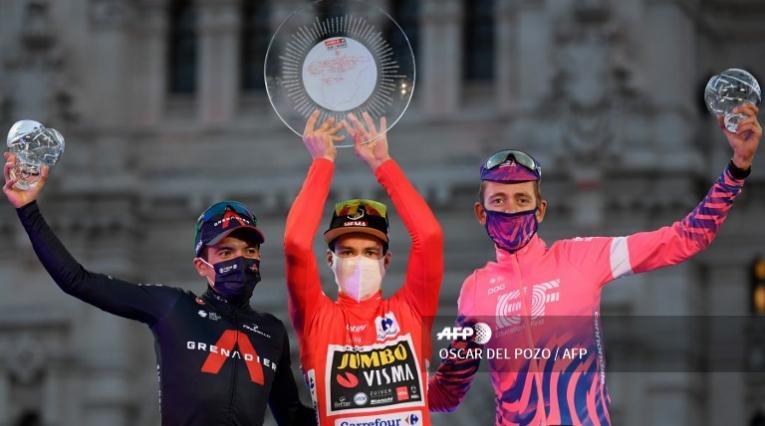 Richard Carapaz fue segundo en la Vuelta a España