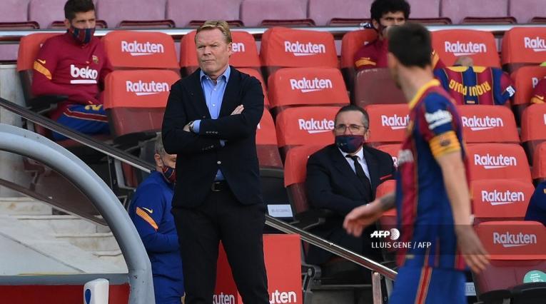 Ronald Koeman y Messi