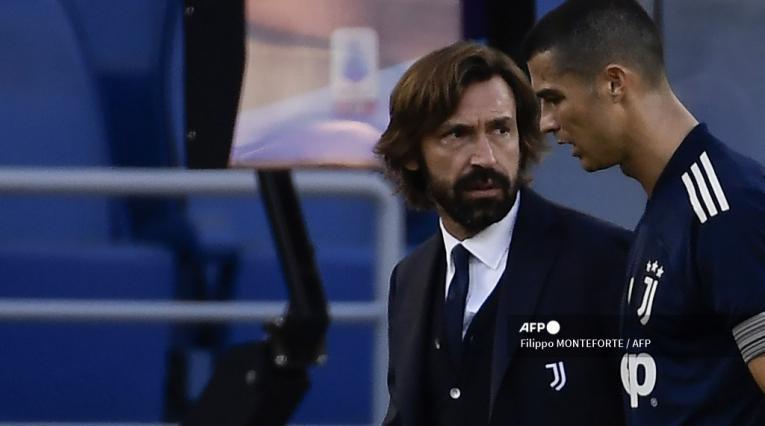 Cristiano Ronaldo y Andrea Pirlo.