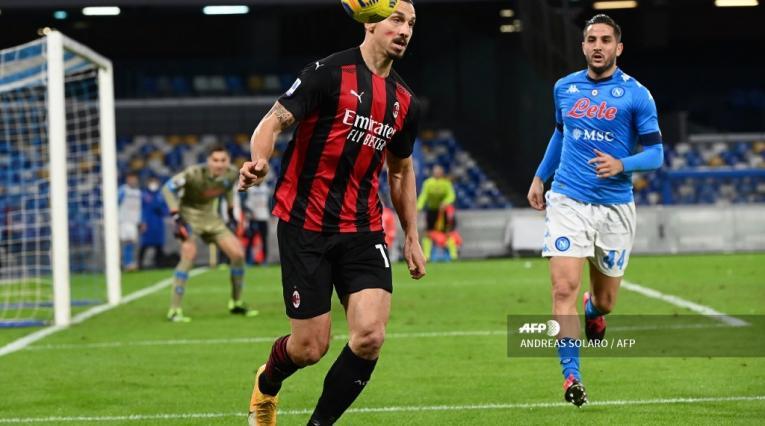 Napoli vs Milan, Zlatan Ibrahimovic