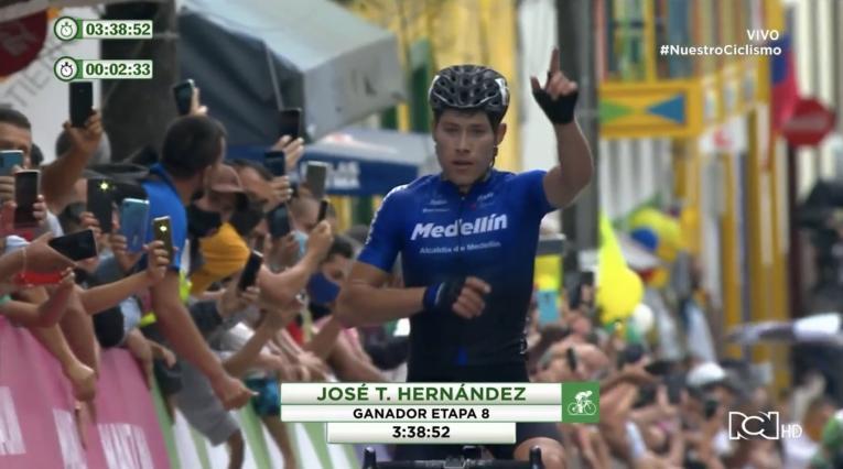 José Tito Hernández ganó la etapa 8 de la Vuelta a Colombia
