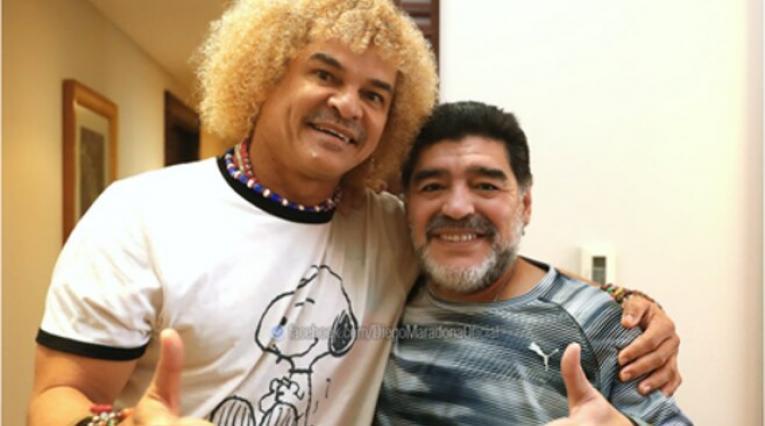 Diego Maradona y Carlos Valderrama