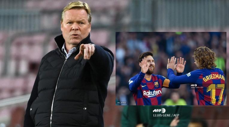 Barcelona; Koeman, Messi y Griezmann