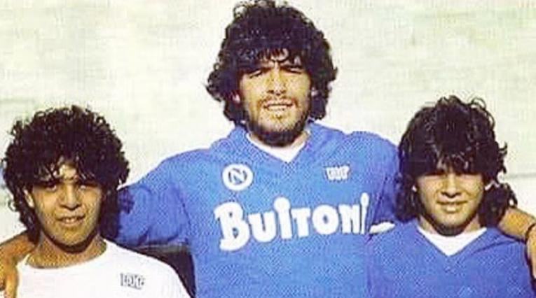 Lalo y Diego Maradona