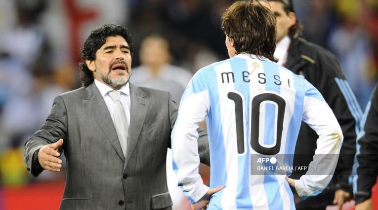 Lionel Messi, Maradona