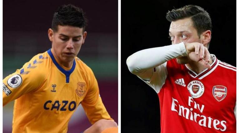 James y Ozil - Premier League