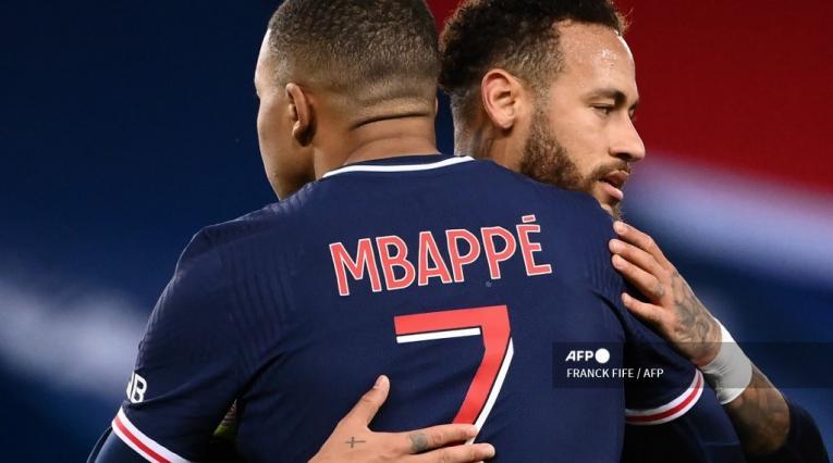 Neymar y Mbappé, PSG
