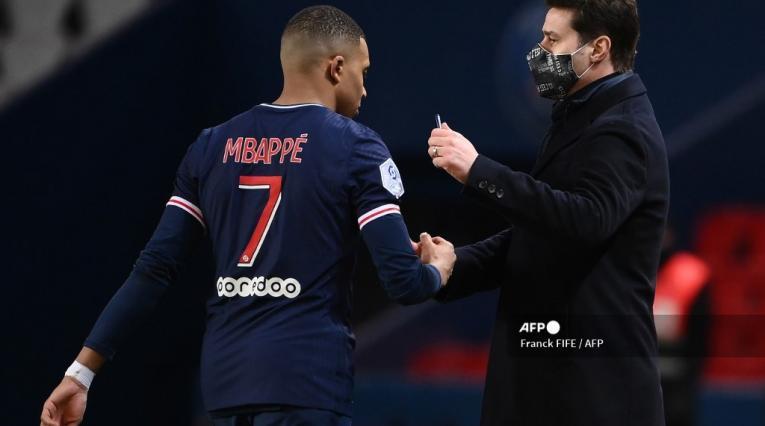 Pochettino y Mbappé, PSG