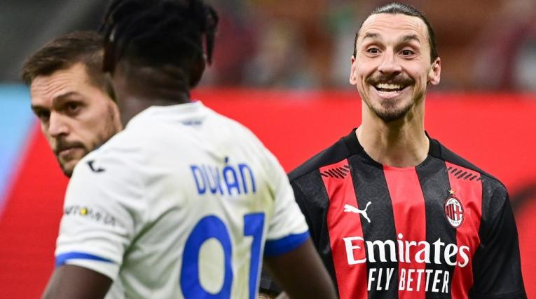 Zlatan Ibrahimovic, Duván Zapata, Milán vs Atalanta