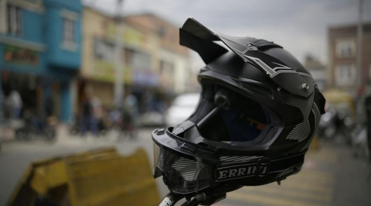 Uso del casco en Bogotá