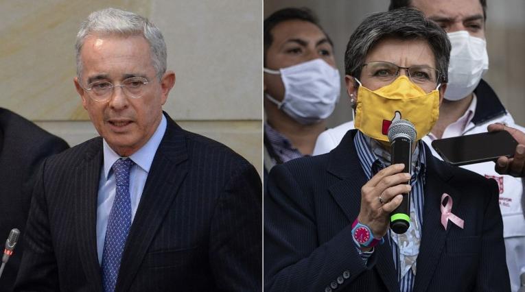 Álvaro Uribe, Claudia López