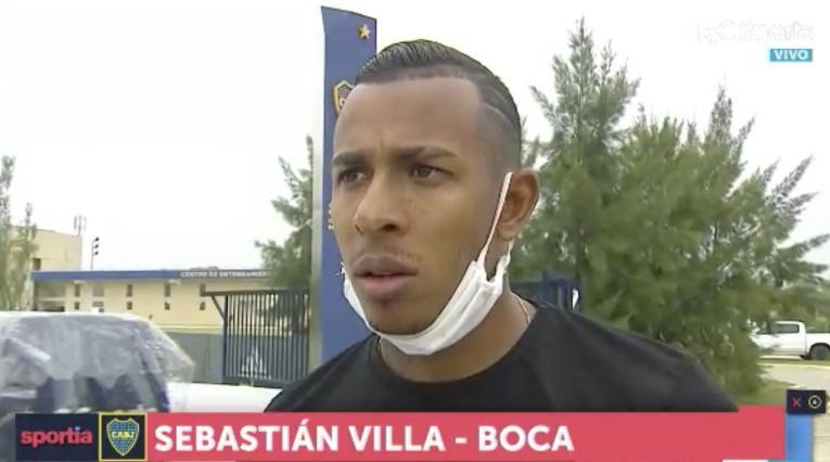 Sebastián Villa, jugador colombiano de Boca Juniors
