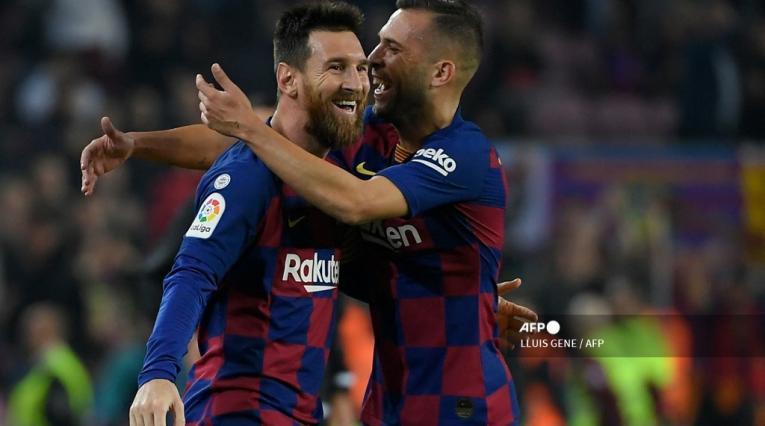 Jordi Alba y Messi, Barcelona