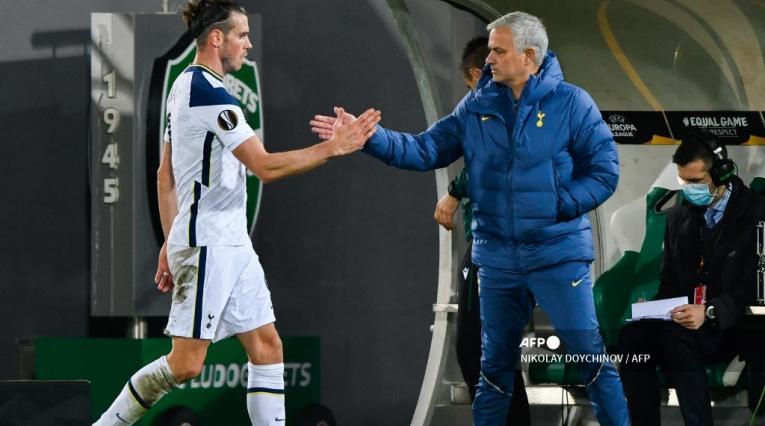 José Mourinho y Gareth Bale - Tottenham