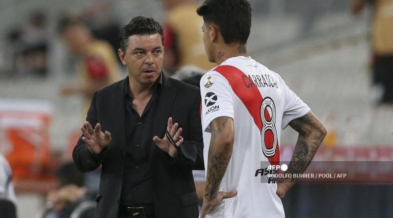 Marcelo Gallardo y Jorge Carrascal, River Plate