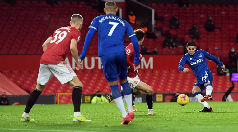 James Rodríguez, Manchester United vs Everton