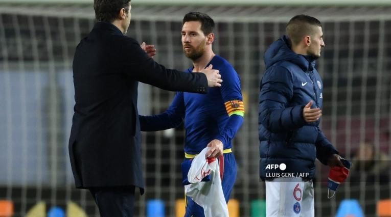 Mauricio Pochettino y Lionel Messi