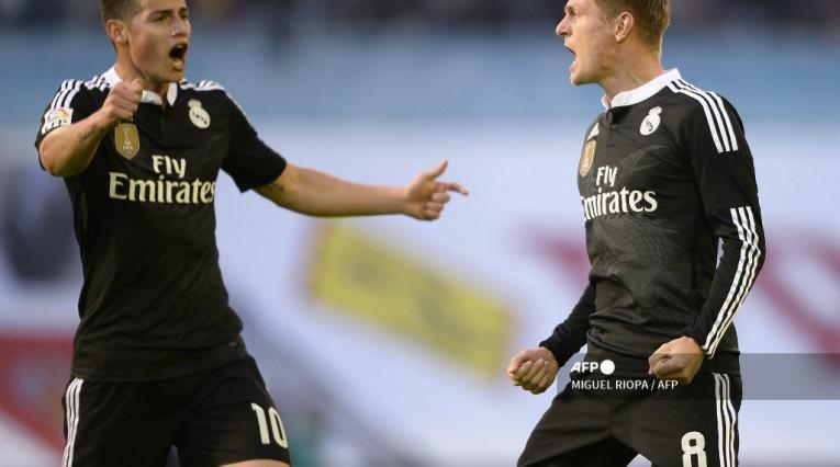 James Rodríguez y Toni Kroos, Real Madrid