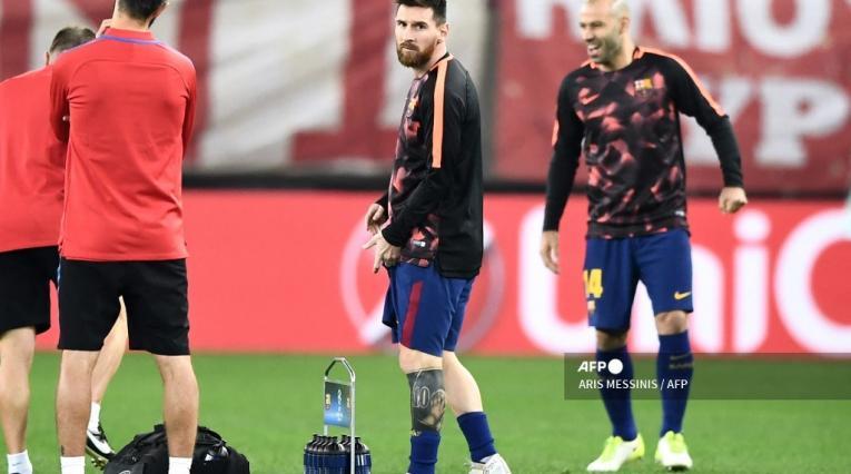 Mascherano y Lionel Messi - Barcelona
