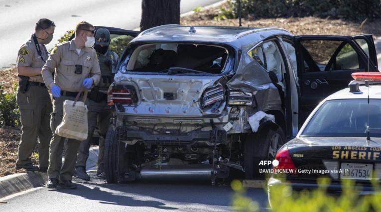 Auto accidentado de Tiger Woods