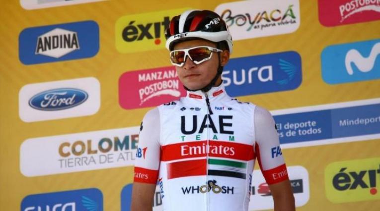 Camilo Ardila, ciclista colombiano del UAE