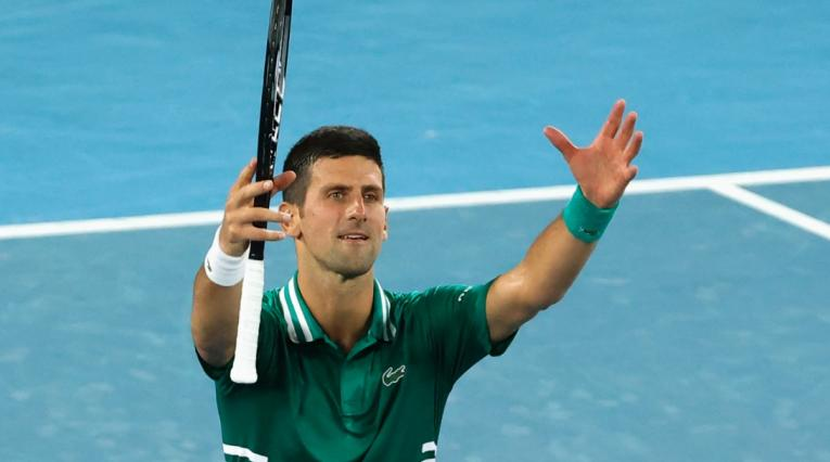 Novak Djokovic en Abierto de Australia