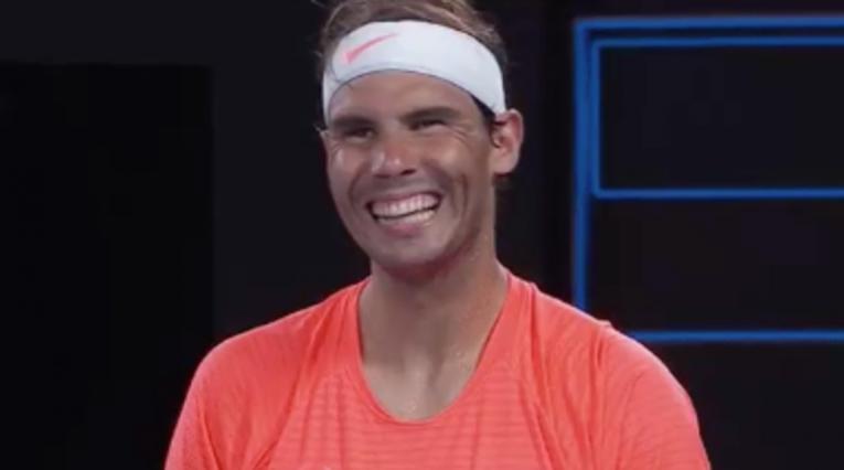 Captura de pantalla, Rafael Nadal, Abierto de Australia 2021