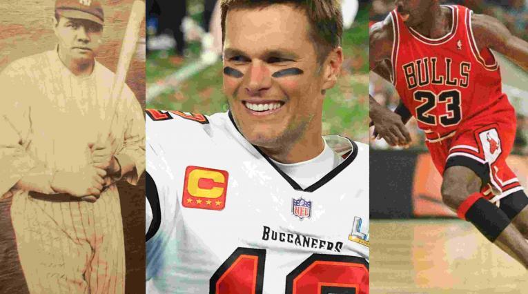Tom Brady, Michael Jordan y Babe Ruth