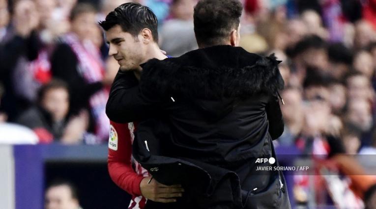 Álvaro Morata, Diego Simeone