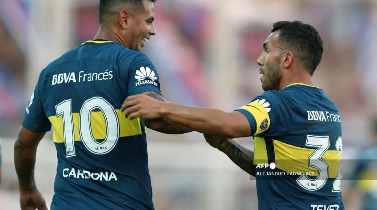 Edwin Cardona, Carlos Tévez; Boca Juniors