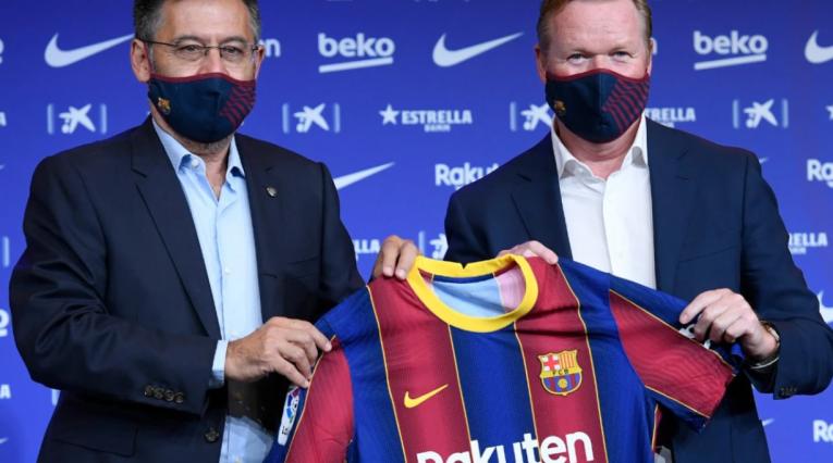 Bartomeu y Koeman en el Barcelona