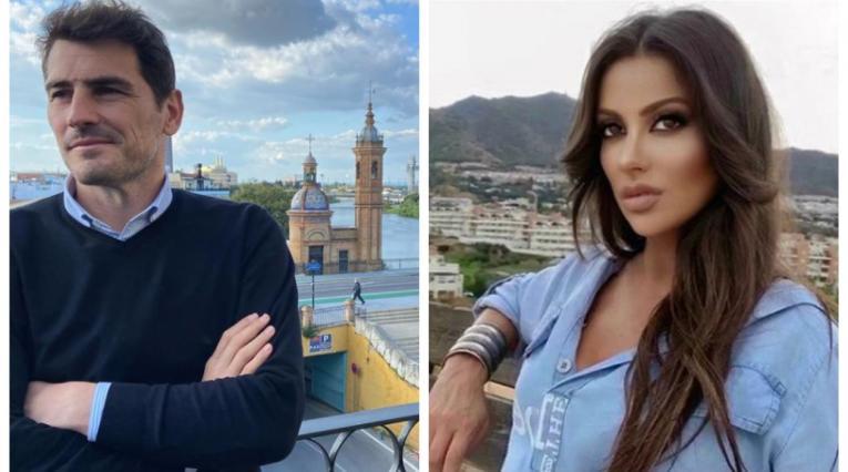 Iker Casillas y Sara Denez