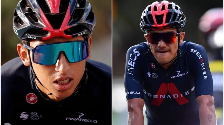 Egan Bernal y Richard Carapaz, team Ineos