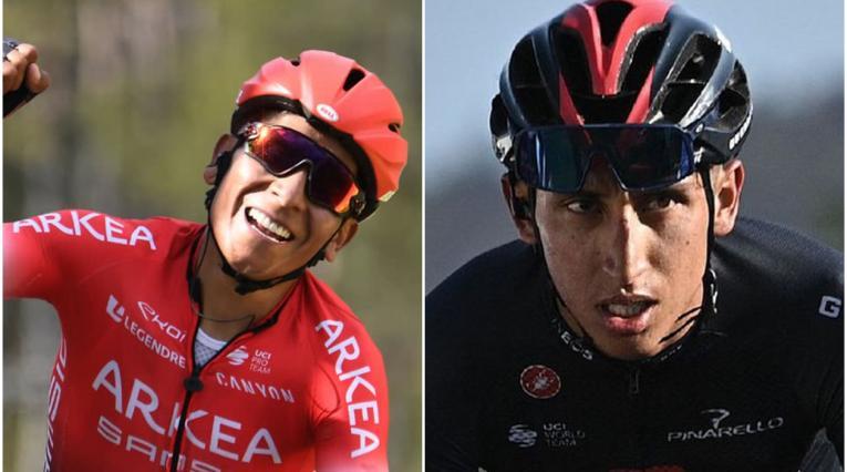 Nairo Quintana y Egan Bernal, ciclistas colombianos