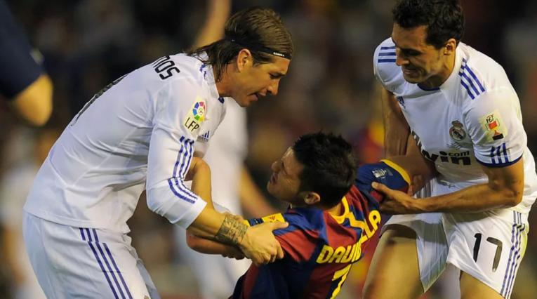 Sergio Ramos, contra el Barcelona de Guardiola