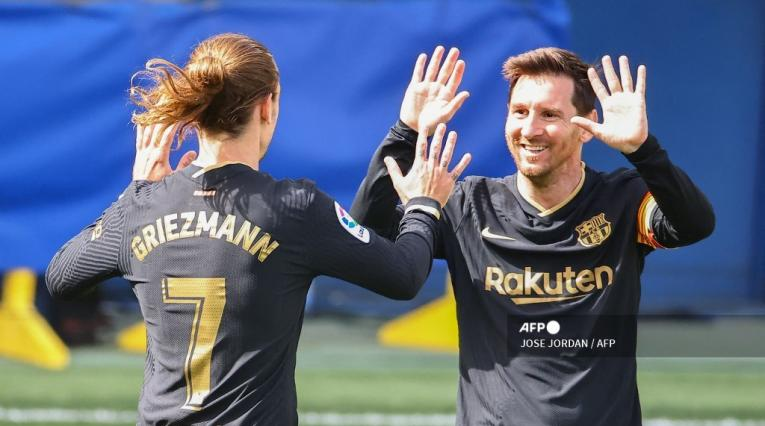 Messi y Griezmann - Barcelona 2021