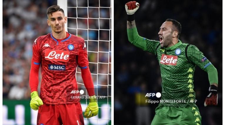 Alex Meret y David Ospina; Napoli