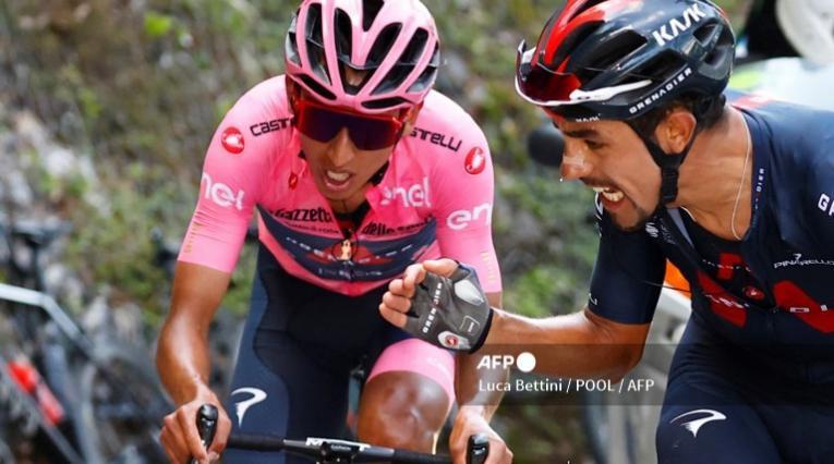 Egan Bernal y Dani Martínez, Giro de Italia