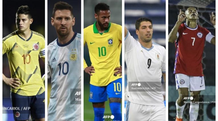 James, Messi, Neymar, Suárez, Alexis