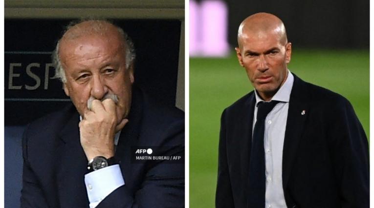 Vicente del Bosque y Zinedine Zidane