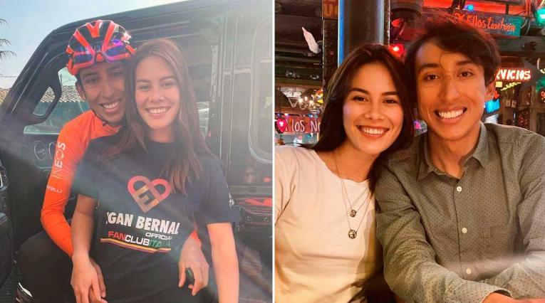 Egan Bernal, María Fernanda Motas